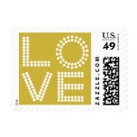 Love Style Large Wedding  Old Gold Postage Stamp