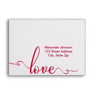 """""""Love"""" Stylish Valentines Day Envelopes"""