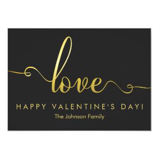 """Love"" Stylish Valentines Day Flat Card"