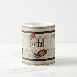 Love Subway Football Mug