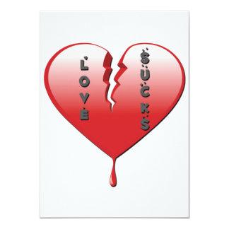 Love Sucks Broken Heart Card