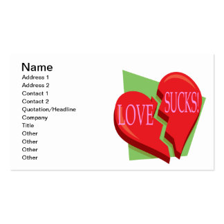 Love Sucks Business Card Templates