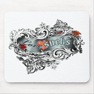 Love Sucks Ornate Mouse Pad