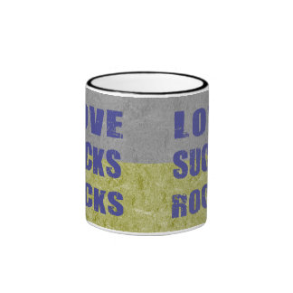 Love Sucks Rocks Ringer Mug
