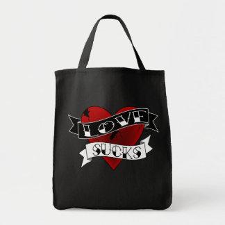 Love Sucks Tattoo Tote Bags