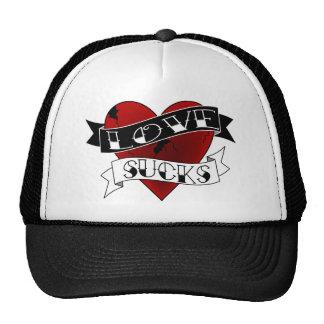 Love Sucks Tattoo Trucker Hat