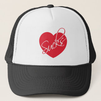 Love sucks trucker hat