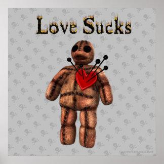 Love Sucks Voodoo Poster