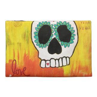 Love Sugar Skull Travel Accessories Bag