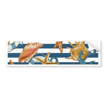 Beach Themed Love Summer Bumper Sticker