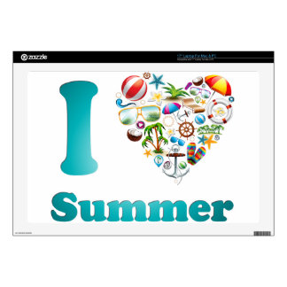 "Love summer design decal for 17"" laptop"