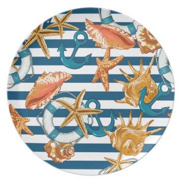 Beach Themed Love Summer Dinner Plate