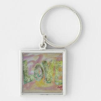 Love Summer Glow Artwork Word Painting Keychain