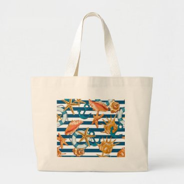 Beach Themed Love Summer Large Tote Bag