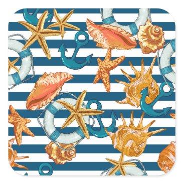 Beach Themed Love Summer Square Sticker