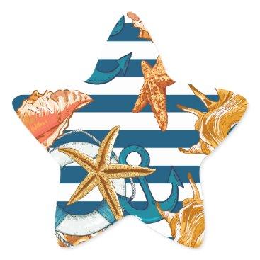 Beach Themed Love Summer Star Sticker