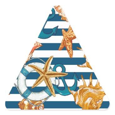 Beach Themed Love Summer Triangle Sticker