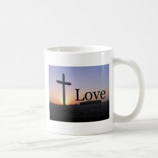 Love sunset cross coffee mug