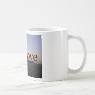 Love sunset cross coffee mugs