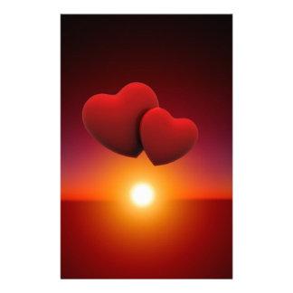 Love sunset stationery