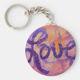 Love Sunset Twilight Art Word Painting Keychain