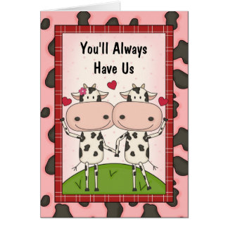 Love & Support - Cows Greeting Card