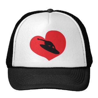 Love surfing design trucker hat