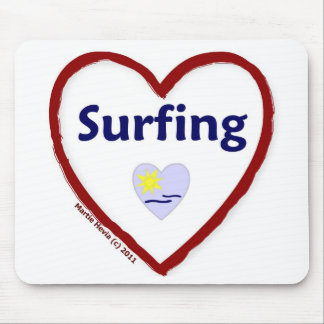 Love Surfing Mouse Pad