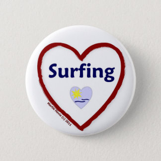 Love Surfing Pinback Button