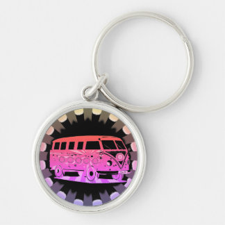 Love Surfing Safari Tropical Keyring
