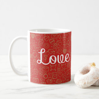 Love Surrounded by Hearts | Classic Mug
