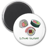 Love Sushi 2 Inch Round Magnet