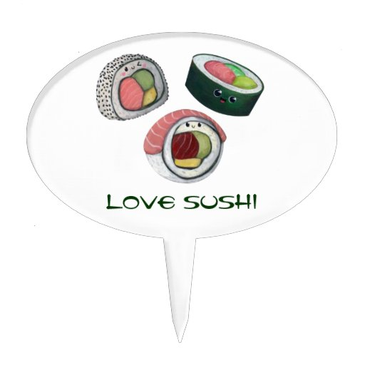 Love Sushi Cake Toppers