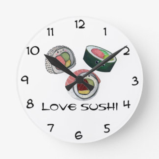 Love Sushi Wallclock