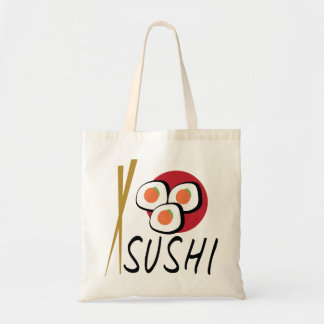 Love Sushi Organic Planet Reusable Canvas Bags