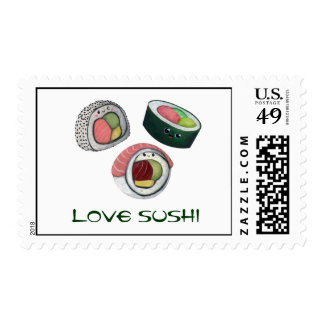 Love Sushi Postage Stamps