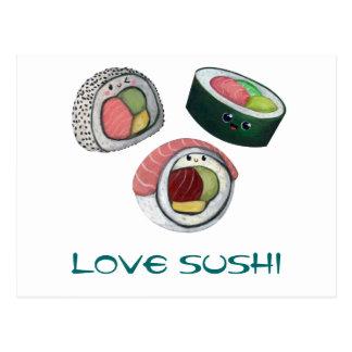 Love Sushi Post Card