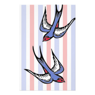 Love Swallows Stationery