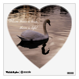 Love Swan Wall Sticker