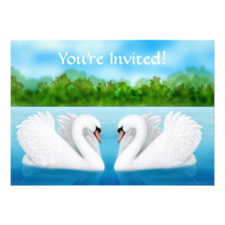 Love Swans Invitation
