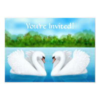 Love Swans Invitation