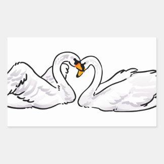 Love Swans Rectangular Sticker