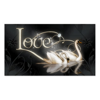 Love Swans Wedding Double-Sided Standard Business Cards (Pack Of 100)