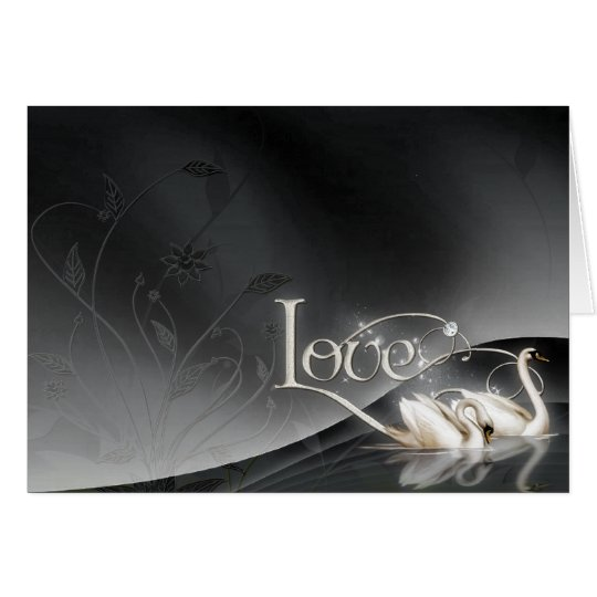 Love Swans Wedding Card