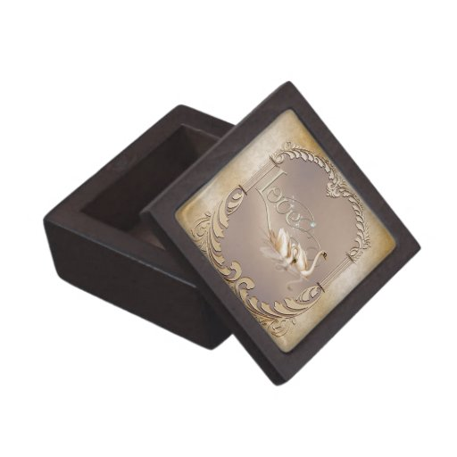 Love Swans Wedding Jewelry Box