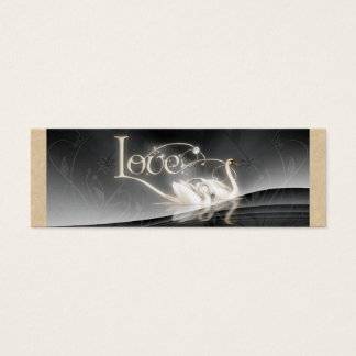Love Swans Wedding Mini Business Card