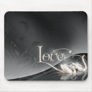 Love Swans Wedding Mouse Pad
