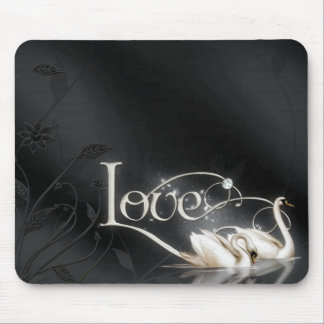 Love Swans Wedding Mouse Pads