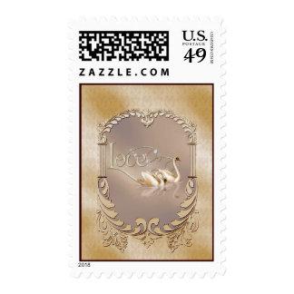 Love Swans Wedding Postage Stamp