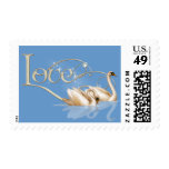 Love Swans Wedding Postage Stamp